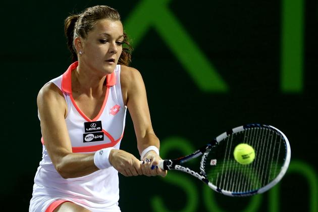 Radwanska's No-Look Drop Volley Is an Early Candidate for Shot of the Year