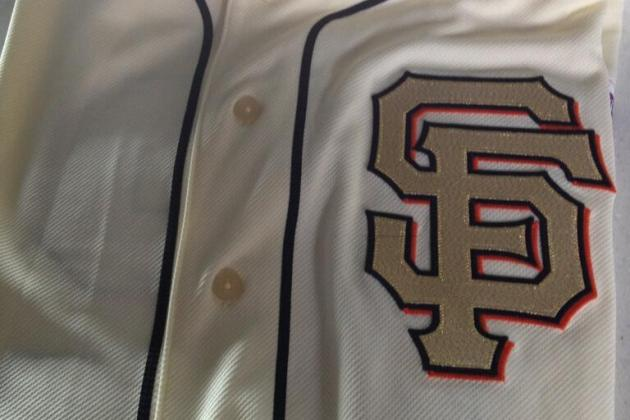 Giants Unveil Gold-Stitched Jersey for Ring Ceremony