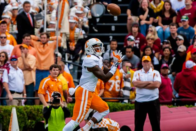 University of Tennessee Wide Receivers Making Progress