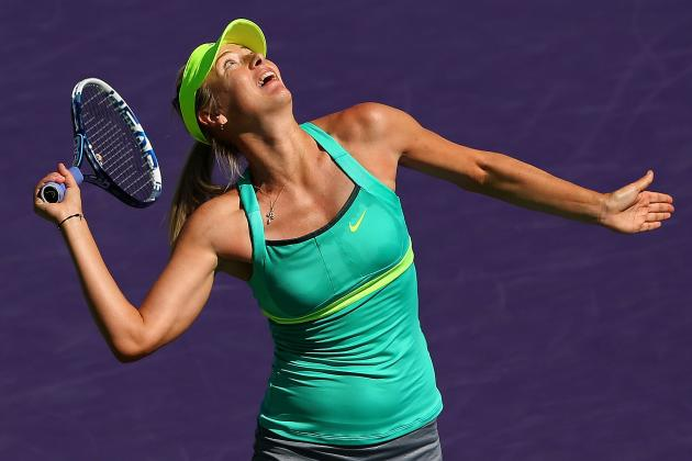 Sharapova Battles into Miami Semis