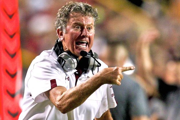 South Carolina Head Coach Steve Spurrier Takes Shots at the USC Trojans and ESPN