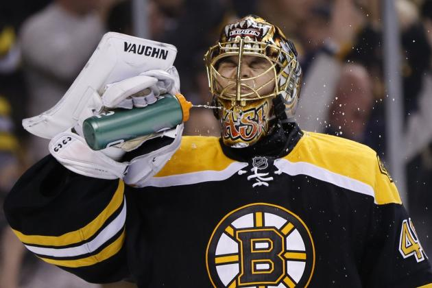 Watch Tuukka Rask Slam His Stick, Fall Down After Losing Shootout