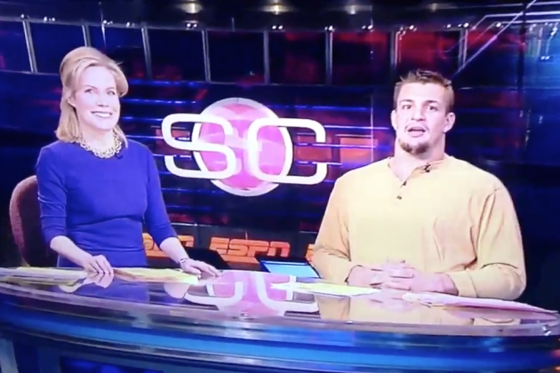 Rob Gronkowski Anchors SporsCenter Live, 'It's on Like Gronky Kong'