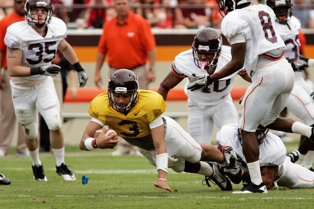 Hokies Football Team Conducts First Practice of Spring