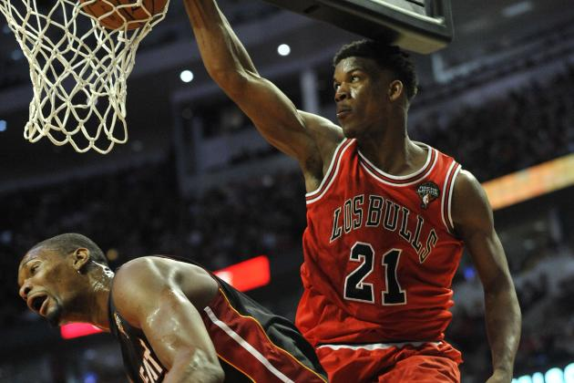 Jimmy Butler's Huge Dunk on Chris Bosh Sums Up Heat's Disappointing Night