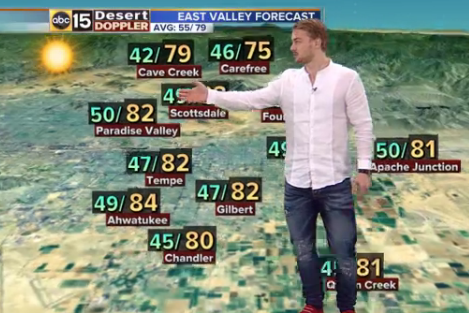 Watch Boedker Serve as Awkward Weatherman