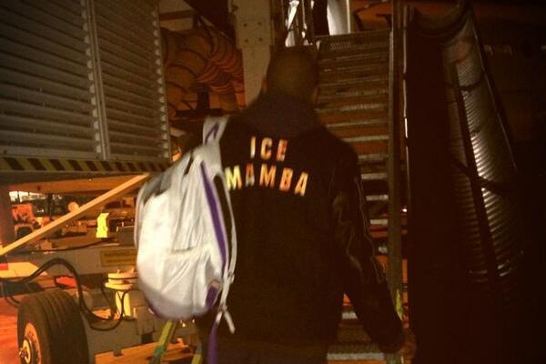 Kobe Bryant Shows Off Slick 'Ice Mamba' Jacket in Minnesota
