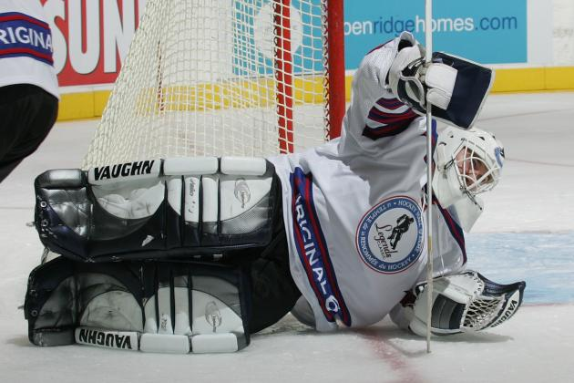 Bill Ranford Subs for Absent Jonathan Bernier at Kings Practice