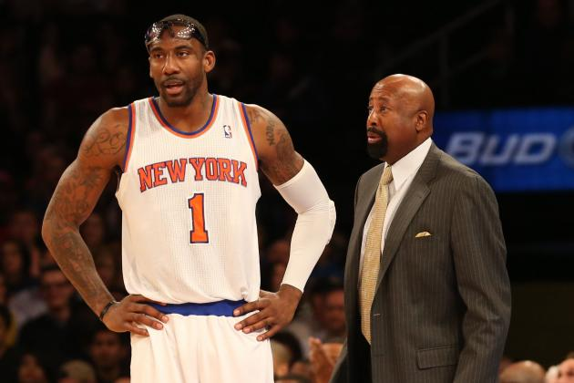 Knicks' Woodson Irked by Amar'e Talking Rehab on TV