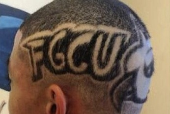 Fan Gets Awesome FGCU Haircut