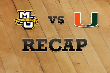 Marquette vs. Miami: Recap, Stats, and Box Score