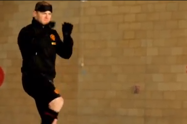 Rooney Scores Blindfolded Volley