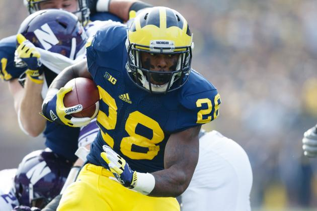 Michigan's Toussaint: Leg 85-90 Percent Better