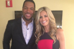 Erin Andrews Co-Hosts 'Live' with Michael Strahan