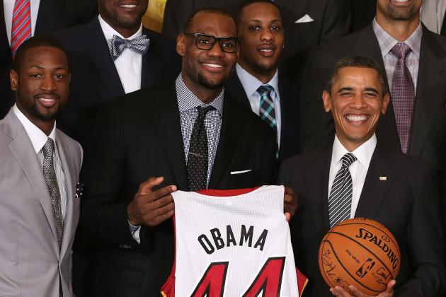 President Obama Consoles Miami Heat Fans