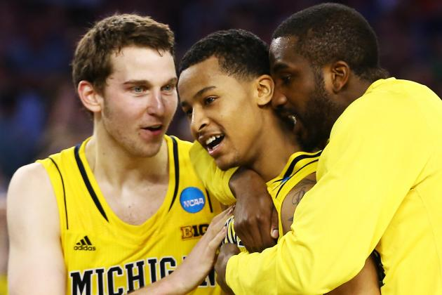 Trey Burke Plays Hero as Michigan Stuns Top-Seeded Kansas, 87-85 in OT