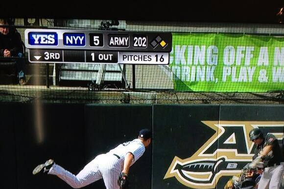 Screengrab Snafu: Yankees Losing Big to Army