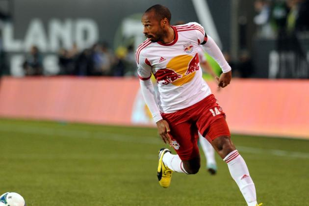 GOAL: Thierry Henry Skillful Volley