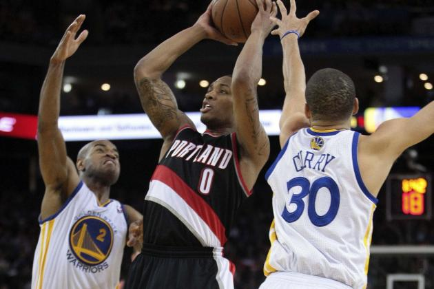 Lillard Doesn't Get Three-Point Record in Hometown