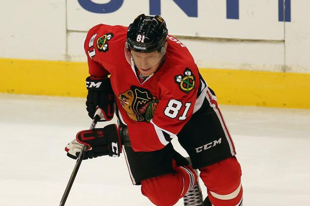 Hossa, Sharp out vs. Wings, May Play Monday