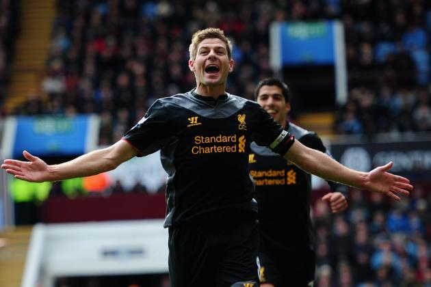 Steven Gerrard Guides Liverpool Comeback Against Aston Villa
