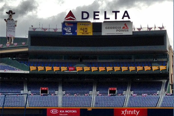 Instagram: Banner Hung for 2012 Wild Card Win