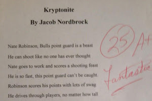 Kid Writes Poem About Nate Robinson, Gets A+