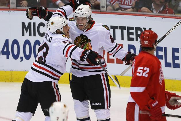 Blackhawks Smoke Red Wings with 7-Goal Onslaught