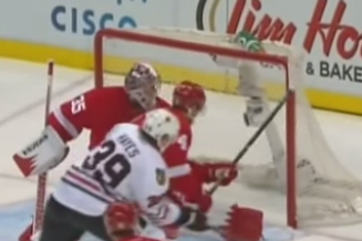 Watch Red Wings' Jakub Kindl Go Backhand Roof for Unfortunate Own-Goal