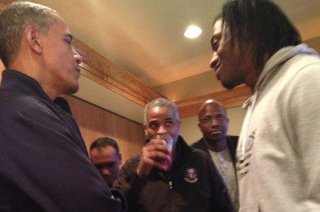 Barack Obama, Robert Griffin III Have 'Good Conversation'