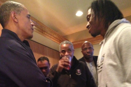 President Barack Obama Tells RG3 to Protect Himself