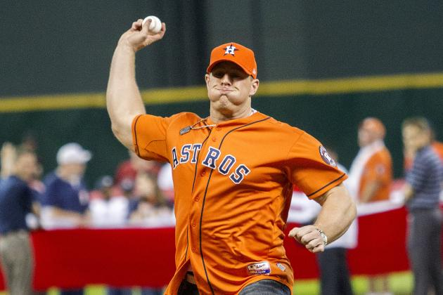 Watt Fires 73 MPH Pitch to Open Season for Astros
