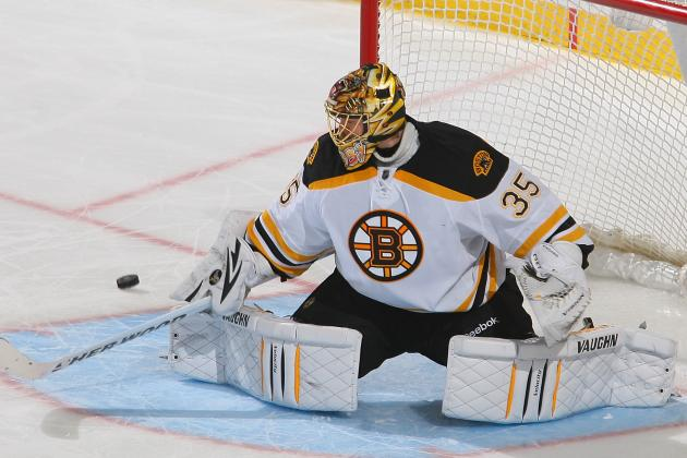 Bruins Back Khudobin Shutout with 2-Goal Third