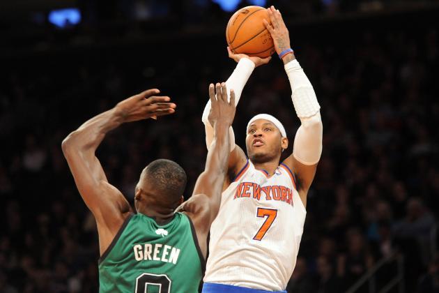 Knicks' Big 3-Pointers Send Melo & Co. over Celtics