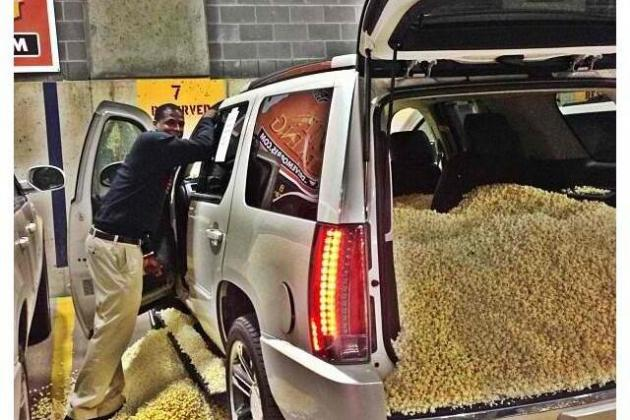 Dion Waiters Gets Rookie Treatment When Teammates Fill His Car with Popcorn