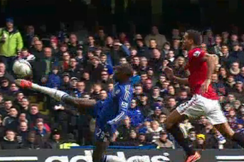 Ba Beats De Gea with Acrobatic Effort