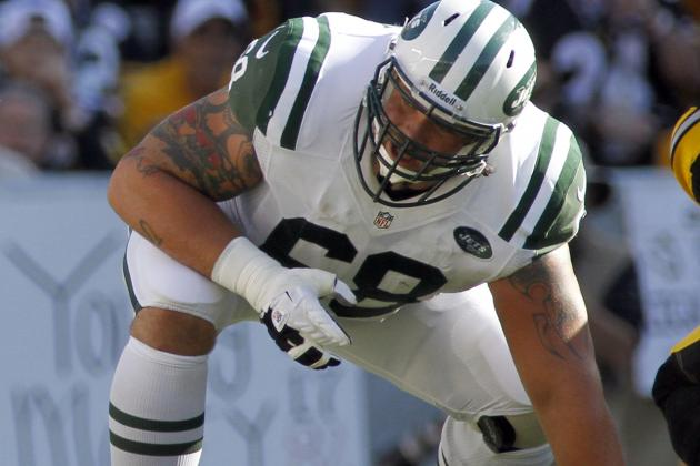 Ex-Jets G Slauson Agrees on 1-Year Bears Deal