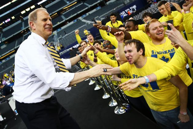 John Beilein Celebrates Final Four with Michigan Fans in Ann Arbor