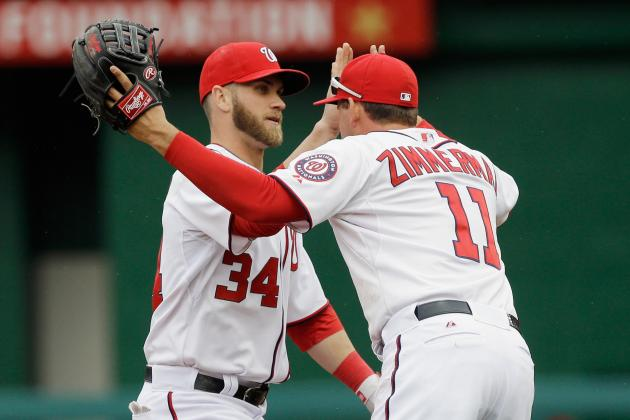 Bryce Harper homers bring love sign, helmet snatching, weird handshakes