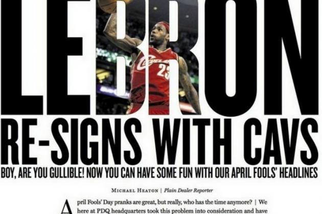 Cleveland Paper Pranks Fans