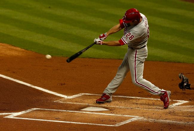 Chase Utley has now matched Freddie Freeman with three RBI.