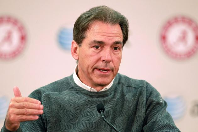 Saban on Bret Bielema's Comments: 'I Really Don't Have Any Reaction to It'