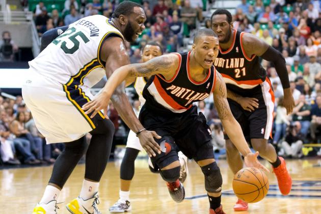 Blazers Shoot 58 Percent but Lose to Jazz 112-102