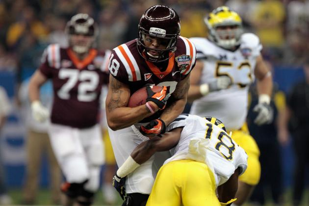 Virginia Tech Senior WR Coles on Receiving End of Caution