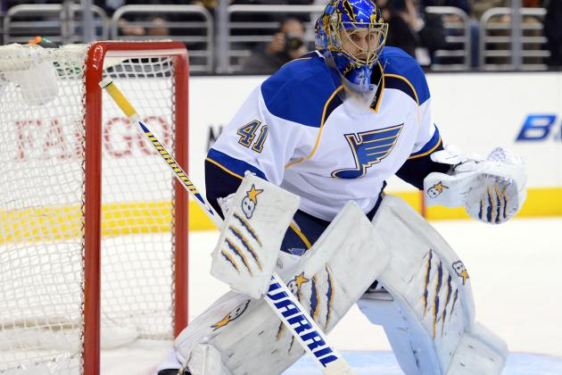 Halak Leaves Game vs. Wild with Lower-Body Injury
