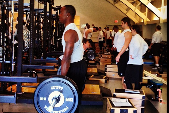 Jeremy Maclin Working out in Preparation for Next Season