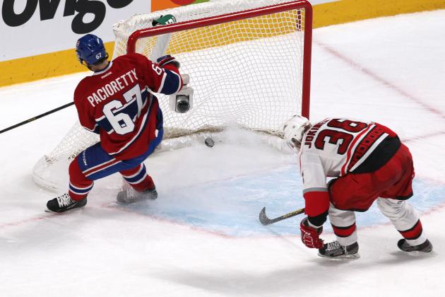 Pacioretty's Pair Leads Canadiens Past Hurricanes
