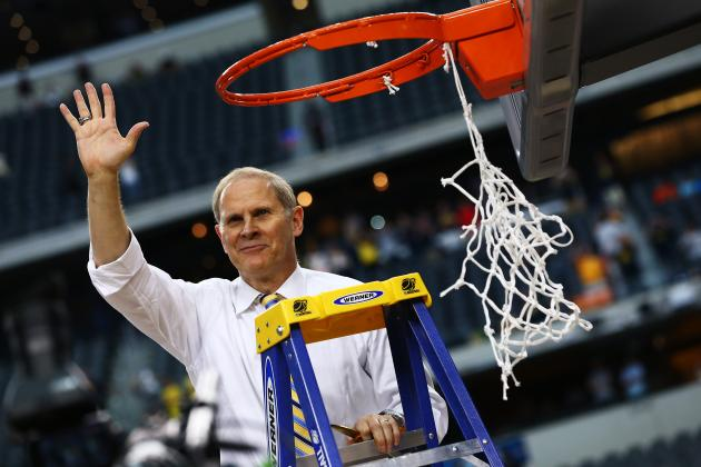 Michigan's John Beilein Salvages Powerade-Soaked Shirt