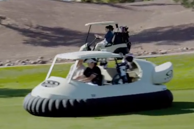 Bubba Watson's Hovercraft Golf Cart Is Pretty Amazing
