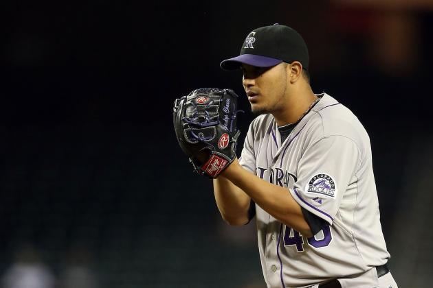 Rockies Pitcher Jhoulys Chacin Turns in Strong Effort in First Start